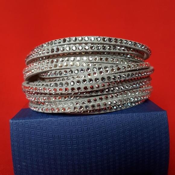 474d0dcc6 Swarovski Jewelry | New Slake Deluxe Triple Wrap Bracelet | Poshmark